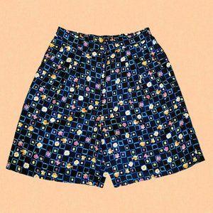 Vintage high waisted floral print shorts